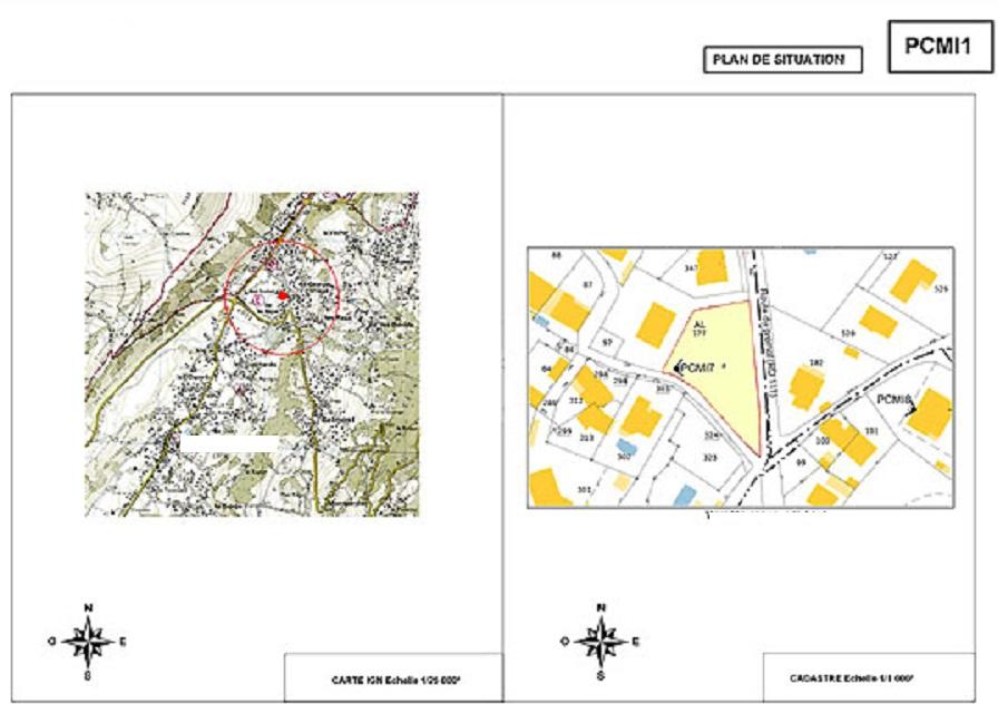 Plan de masse abri de jardin best surface habitable with for Certificat d urbanisme permis de construire